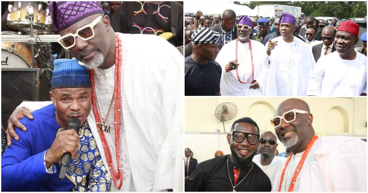 AY Comedian, Yinka Ayefele, others attend Dino Melaye mother's burial ceremony