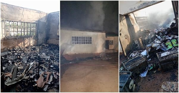 Uncertainty as fire destroys INEC headquarters in southeast