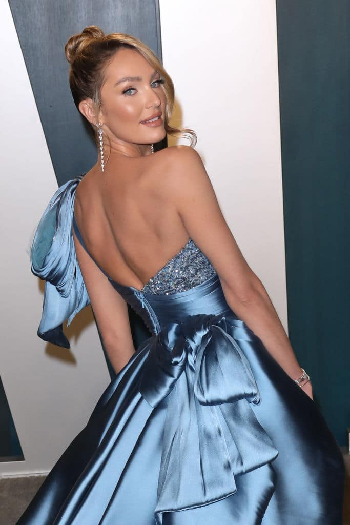 Candice Swanepoel at the 2020 Vanity Fair Oscar Party