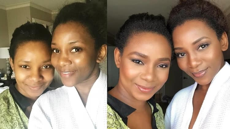Genevieve Nnaji and daughter Theodora Chimebuka Nnaji