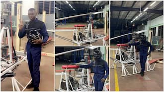 I've been working on it for 4yrs - Man who wants to build helicopter carries out flight test, shares photos