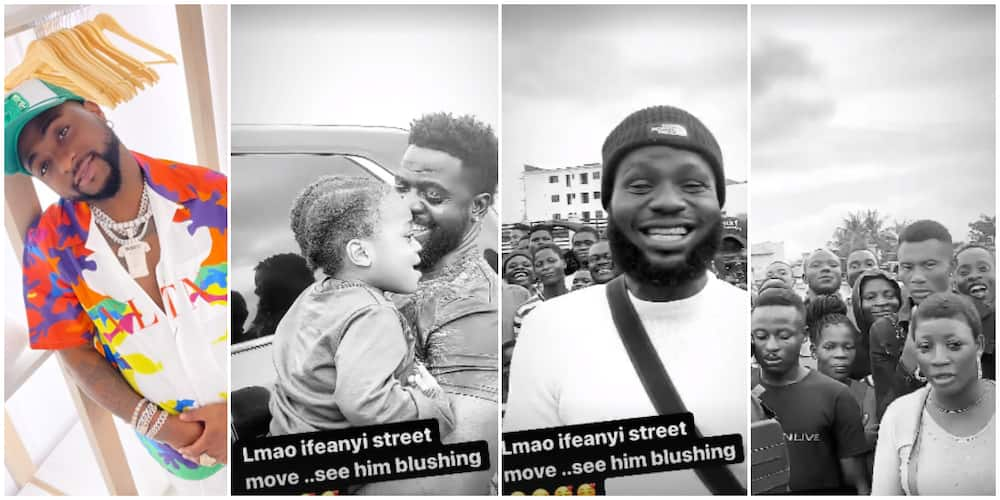 Davido allows Ifeanyi to briefly meet fans.