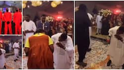 Once you lose no food; Reactions as Nigerians perform Squid Game at a party in video, a man wore gown