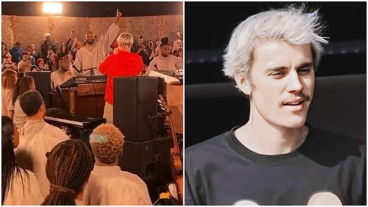 Justin Bieber performs emotional gospel ballad at Kanye West's Sunday service