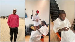 Young Nigerian barber who gave Burna Boy haircut and became popular reveals how he met the musician