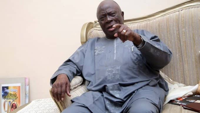 Ayo Adebanjo Reveals Afenifere's Position on Sunday Igboho's Call for Yoruba Nation, Sends Message to Buhari