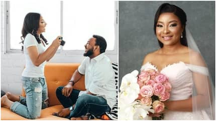 Linda Ejiofor reveals how she fell in love with her husband, says they bonded when he was in a dark place (photos)