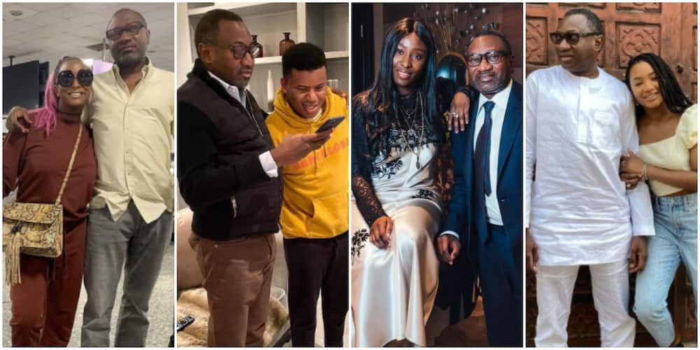 5 photos of billionaire Femi Otedola being an amazing father to DJ Cuppy and siblings