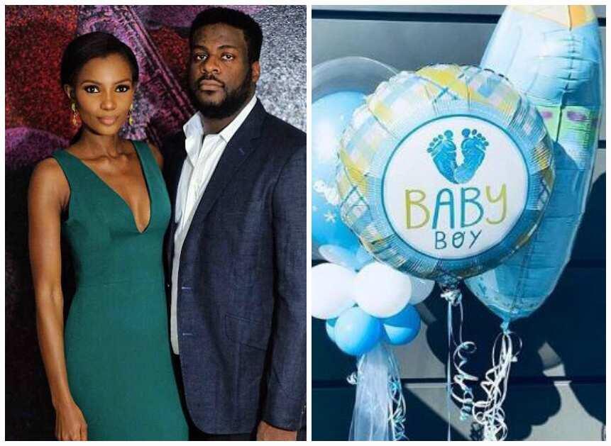Agbani Darego baby and husband