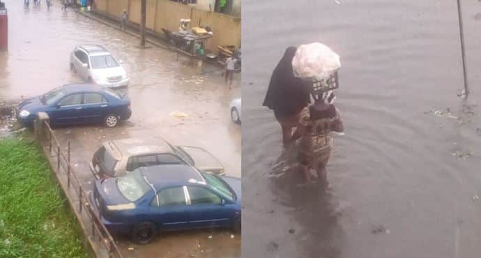 Save us from drowning - Lagos residents beg as flood takes over community - Legit.ng