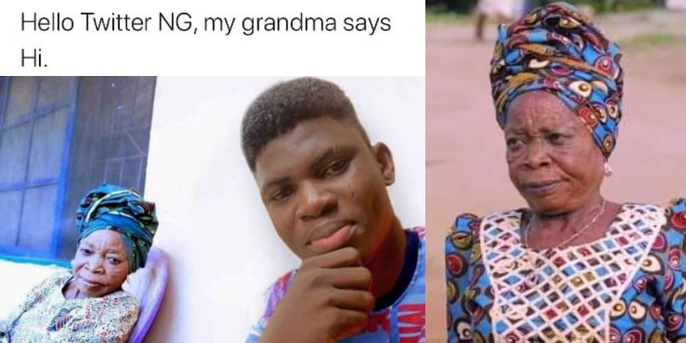 Funny Reactions as Man Introduces Iya Gbonkan As His Grandmother, Many Apologise for Offending Him in the Past