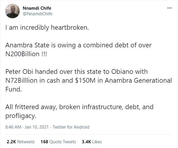 Fact Check: Is it true Anambra Owes over ₦200bn Debt?