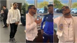 Igwe 2pac cracks-up birthday boy Kelechi Iheanacho in American slangs as he storms London