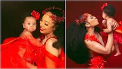 TBoss shares beautiful photos of her daughter on Valentine's Day, finally reveals her face
