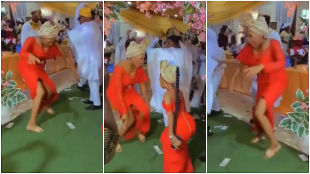 Lady dancing at the wedding ceremony.