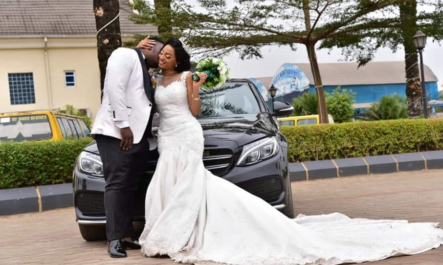 Beautiful Nigerian couple weds 7 years after they met at a motor park (photos)