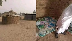 It's head master's office: Man shares pictures of dilapidated hut used as school; no chair & desk