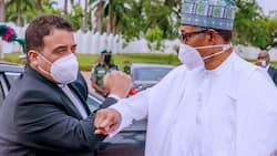 JUST IN: President Buhari hosts Libyan prime minister in Aso Rock
