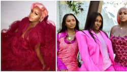 DJ Cuppy get her sisters in pink looks in promotional video for new jewellery line