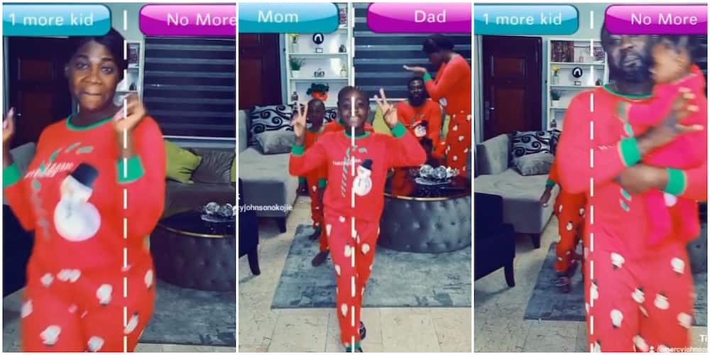 Actress Mercy Johnson and family play This or That game in cute new video