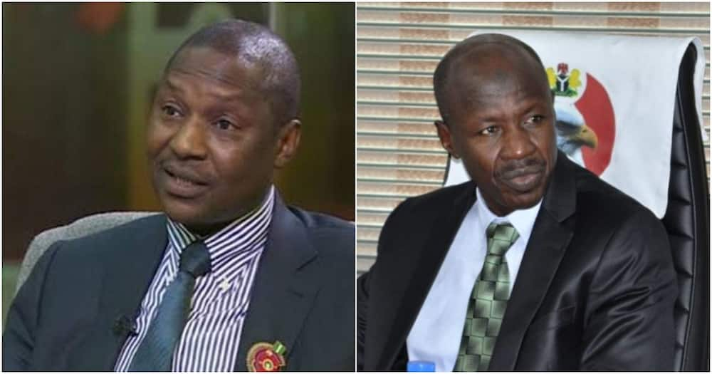 Summon Malami to provide evidence of corruption against me, Magu to Salami panel