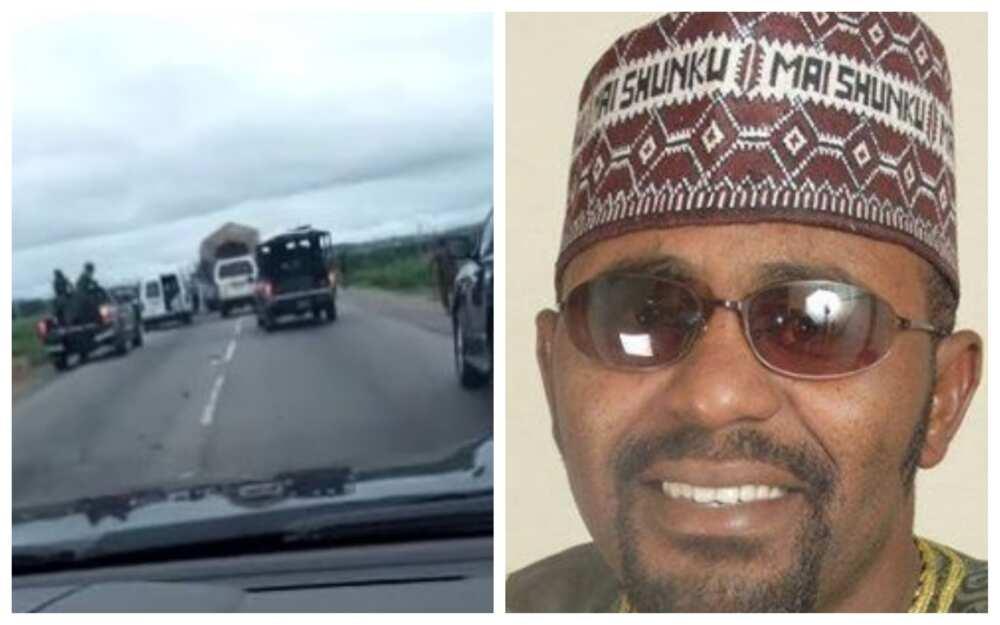 Yan bindiga sun budewa Ibrahim Maishinku wuta a hanyar Abuja-Kaduna, an sace abokinsa