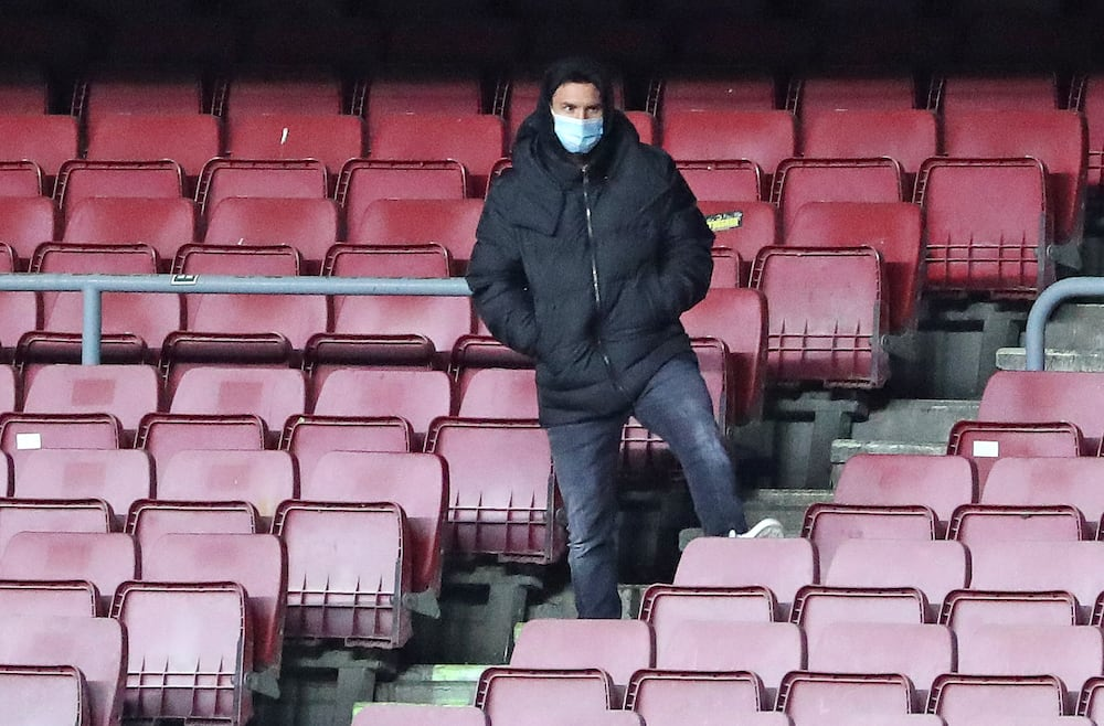 Lionel Messi at the stands