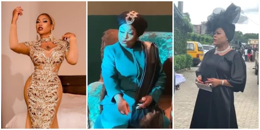 Photos of Toyin Lawani and Sola Sobowale.