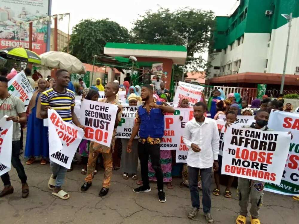 Matasan PDP sun fito zanga-zanga a Abuja