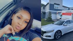 Everything's new: Young lady celebrates buying car and house, people praise her