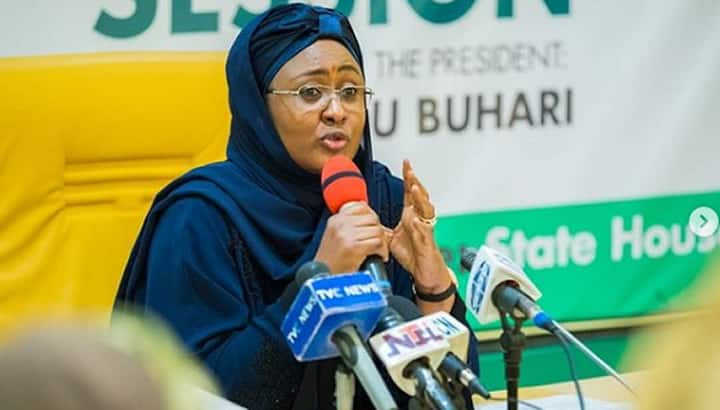 Aisha Buhari says COVID-19 pandemic is a sign that God is not happy with mankind