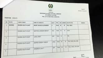Breaking: APC removed from INEC's list of Rivers senatorial candidates (photos)
