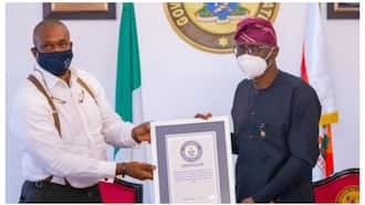 BREAKING: Nigerian governor receives Guinness World Record certificate, shares photos