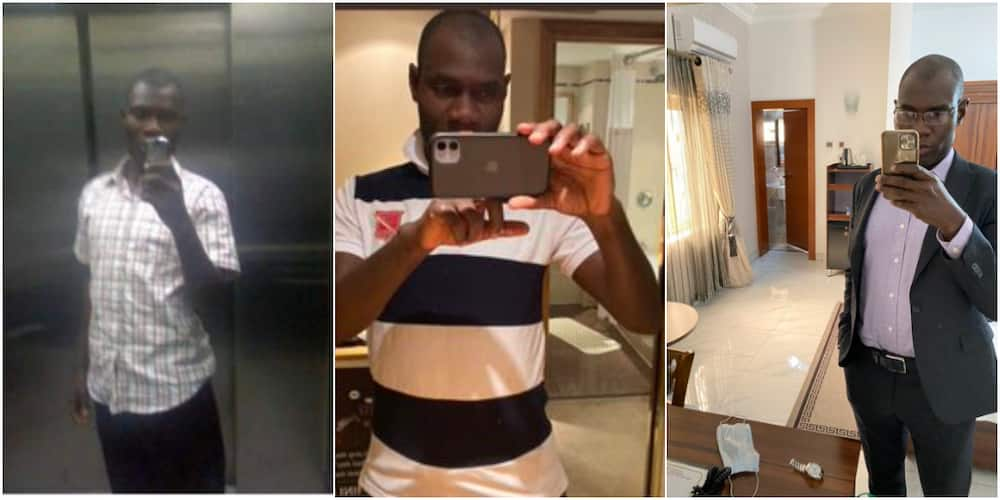 Nigerian man shares adorable transformation photos, wows many with his massive success
