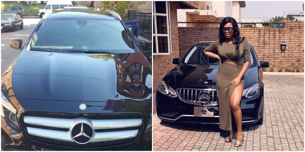 Ubi Franklin's 4th baby mama gifts her friend a Car