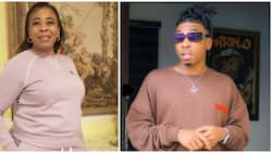 Greet me as many times as possible: Mayorkun's mum reacts to singer's hilarious Mother's Day message
