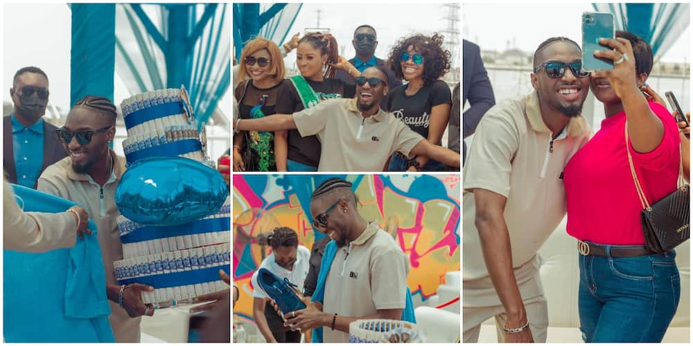 BBNaija: Jaypaul's 'five' fans overwhelm him with loads of gifts