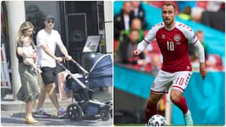Jubilation as ex-Premier League star who collapsed during Euro 2020 spotted in public with family