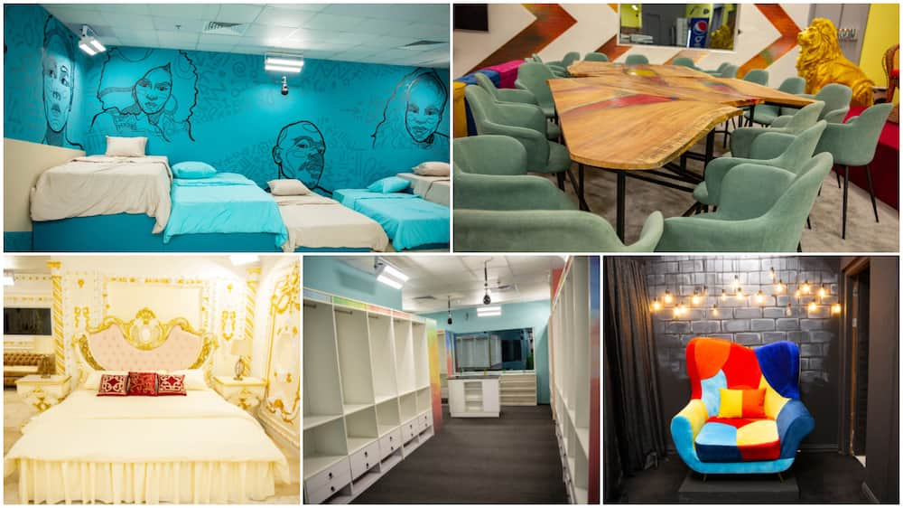 BBNaija 2021: Photos show inside the upgrade house, the diary room is fire, there is now a washing machine