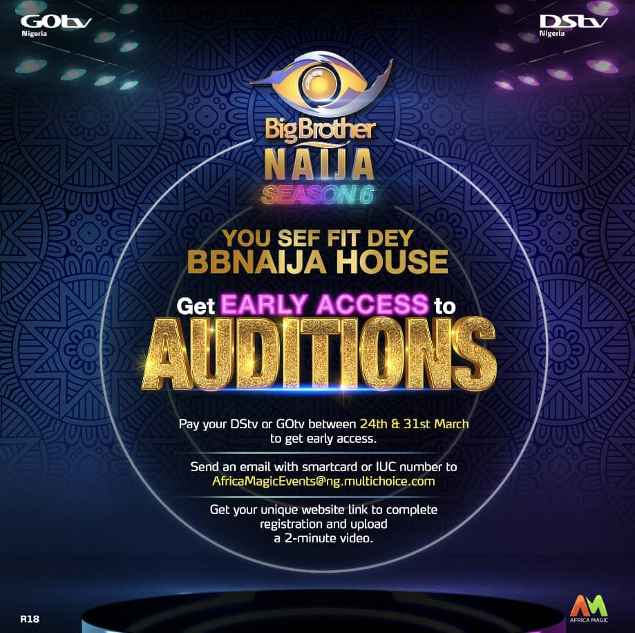 BBNaija Season 6: One Day Left For The Early Access Auditions