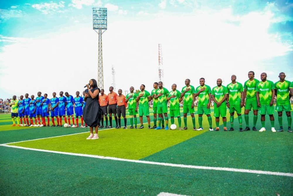 Stars line up for football exhibition