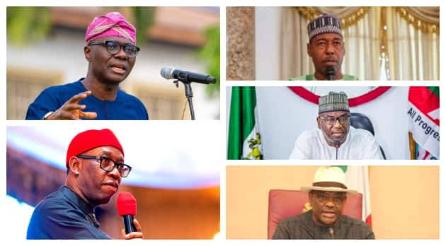 Best five governors