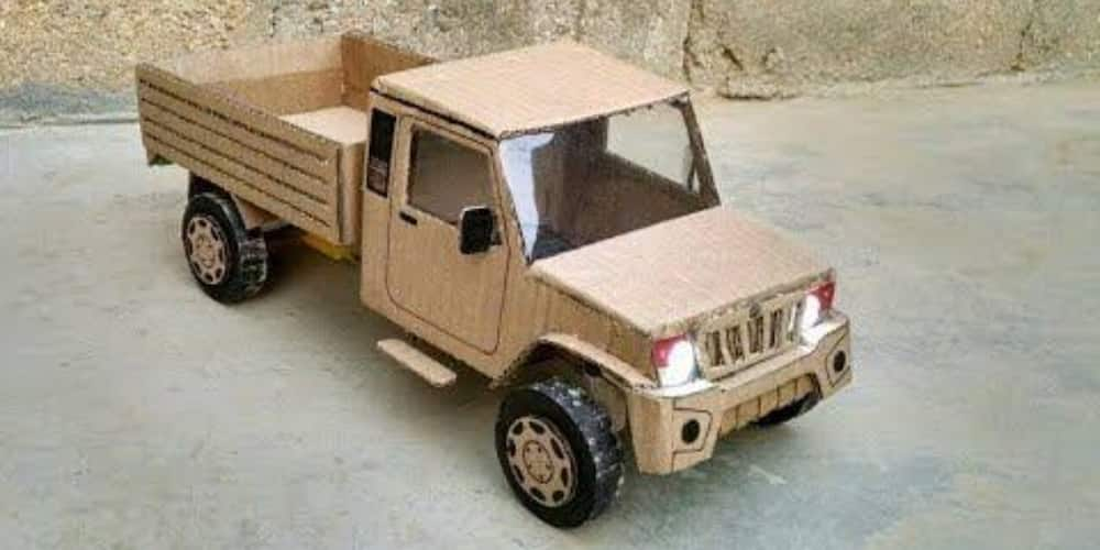 13-year-old Nigerian Boy Wows Many on Social Media after Building Vehicle with Soap Carton