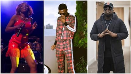 Incredible moment Wizkid surprised Simi and Wande Coal on stage in London, Nigerians react