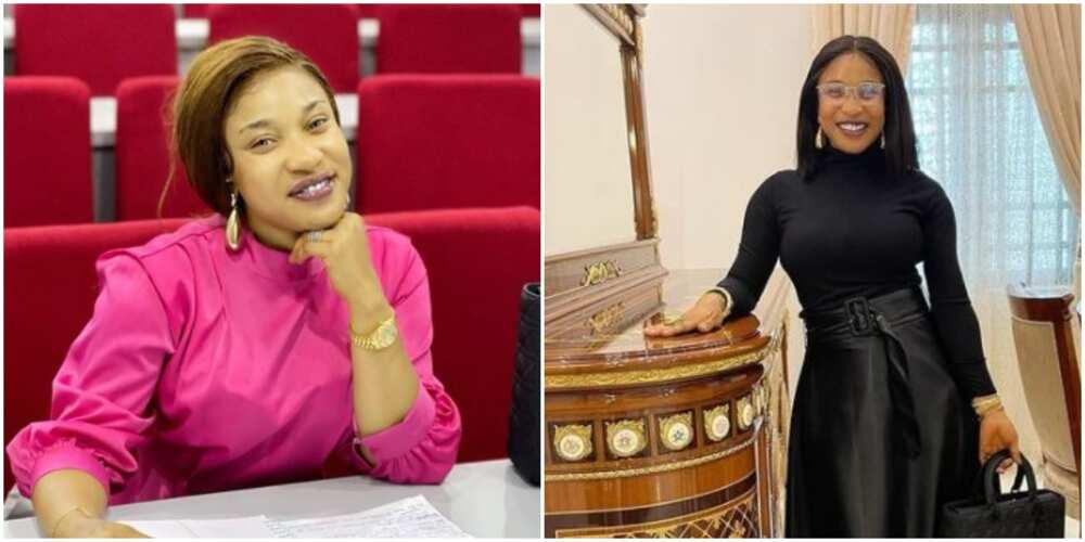 Actress Tonto Dikeh Returns to School