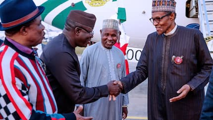 President Buhari returns to Nigeria after official visit to Paris (photos)