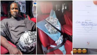 The best flowers I have ever gotten: Singer Mr Eazi flaunts large bouquet of money he got for 30th birthday