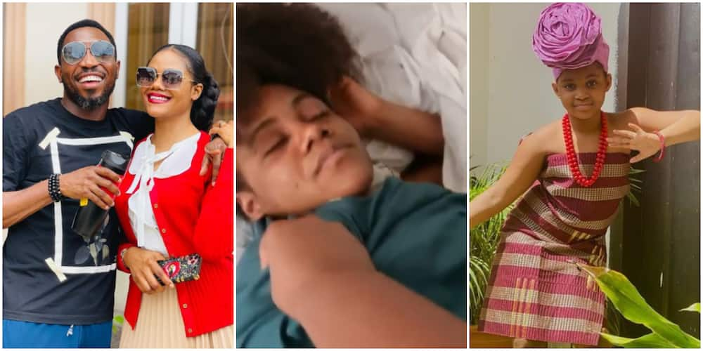 Hallel drags her mum out of bed
