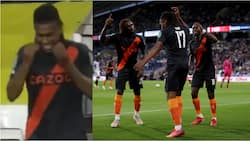 Viral video of Alex Iwobi doing palliative dance after scoring in Everton's 2-1 win over Huddersfield in EFL Cup