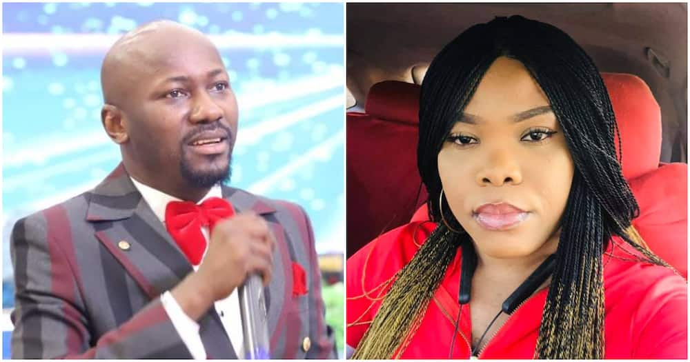 Alleged scandal: Pastor's wife accused of sleeping with Apostle Suleman finally breaks her silence